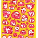 Point Inc. Japan Maruster World Fuzzy Sticker Sheet (B) Kawaii