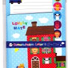 Synapse Japan Lovely Mate Letter Set with Stickers (A) Kawaii