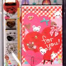 Q-Lia Japan Bear's Little Message Letter Set with Stickers Kawaii