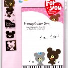 Kamio Japan Honey Sweet Day Letter Set with Stickers Kawaii