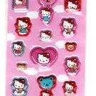 Sanrio Japan Hello Kitty Air Puff Sticker Sheet 2003 Kawaii
