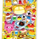 Pool Cool Japan Love Bento Puffy Sticker Sheet Kawaii