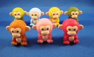 Iwako Japan Monkey Erasers Set of 7 Kawaii