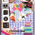 Q-Lia Japan Cinnamon Bear Letter Set with Stickers Kawaii