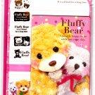Mind Wave Japan Fluffy Bear Letter Set with Stickers Kawaii