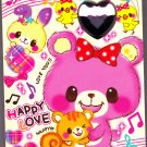 Crux Japan Happy Love Memo Pad with Stickers Kawaii
