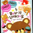 Crux Japan Bear is Looking Mini Memo Pad (B) Kawaii