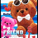 Kamio Japan Friend Bear Mini Memo Pad Kawaii