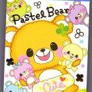 Crux Japan Pastel Bear Mini Memo Pad Kawaii