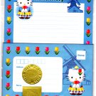 Sanrio Japan Hello Kitty Holland Letter Set with Stickers 2000 Kawaii