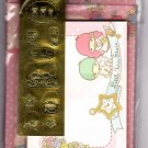 Sanrio Japan Little Twins Stars Letter Set with Stickers by Sun-Star (A) 2010 Kawaii