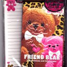 Kamio Japan Friend Bear Letter Set (B) Kawaii