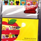 Kamio Japan Wonderful Friends Letter Set with Stickers (B) Kawaii
