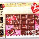 Kamio Japan Chocolate Bears Letter Set with Stickers Kawaii