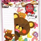 Crux Japan Bear is Looking Letter Set with Stickers Kawaii