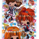Crux Japan Caramel Ribbon 2-in-1 Sticker Sheet Kawaii