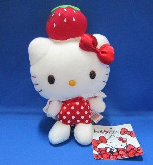 Sanrio Japan Hello Kitty Strawberry Plush by Eikoh 2012 New with Tag Kawaii