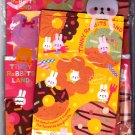 Q-Lia Japan Tinny Rabbits Land Letter Set with Bookmark Kawaii