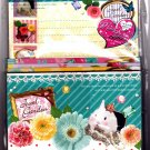 Q-Lia Japan Jewel Garden Letter Set with Stickers Kawaii