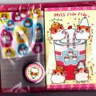 Q-Lia Japan Lovely Hamsters Letter Set with Stickers Kawaii