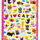 Q-Lia Japan I Love Cat Candy Seal Hard Gel Sticker Sheet Kawaii