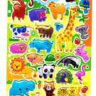 Q-Lia Japan Jungle Life Candy Seal Hard Gel Sticker Sheet Kawaii