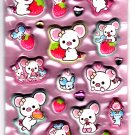 San-X Japan Piggy Girl Marshmallow Sticker Sheet (B) 2012 Kawaii