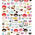 San-X Japan Kireizukin Seikatu Cleaning Raccoon Sticker Sheet (A) 2010 Kawaii