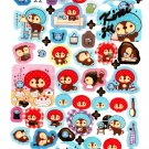 San-X Japan Kireizukin Seikatu Cleaning Raccoon Sticker Sheet (C) 2010 Kawaii