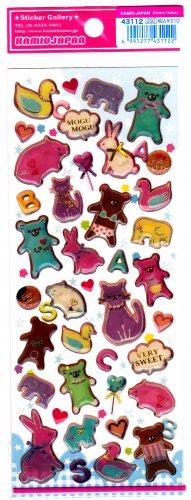 Kamio Japan Very Sweet Animals Epoxy Sticker Sheet Kawaii