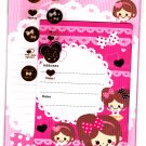 Y-Mail Japan Lovely Girls Letter Set with Stickers Kawaii