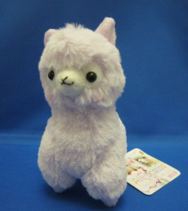 Amuse Japan Light Purple Alpacasso Plush Keychain Strap Kawaii