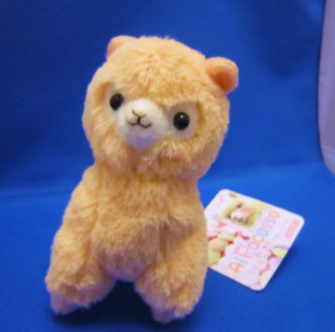 Amuse Japan Pink Alpacasso Plush Keychain Strap Kawaii