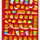 Crux Japan Yummy Food Burger Puffy Sticker Sheet Kawaii