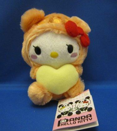 Sanrio Japan Panda Hello Kitty Orange Plush 2010 New with Tag Kawaii