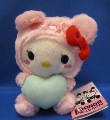 Sanrio Japan Panda Hello Kitty Pink Plush 2010 New with Tag Kawaii