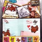 Kamio Japan Bear's Doodling Letter Set with Stickers Kawaii