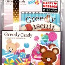 Kamio Japan Greedy Candy Letter Set with Stickers Kawaii