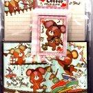 Kamio Japan Marron Marron Bear Letter Set Kawaii