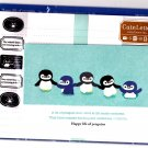Mind Wave Japan Happy Life of Penguins Letter Set with Stickers Kawaii