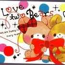 Crux Japan Love Two Bears Mini Memo Pad Kawaii