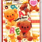 Pool Cool Japan Happy Bear Letter Set with Stickers Kawaii
