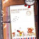 Crux Japan Bonjour Petit Friends Letter Set Kawaii