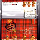 Crux Japan British Bear Style Letter Set (Red) Kawaii