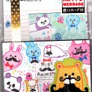 Kamio Japan Hige Animals Letter Set with Stickers Kawaii