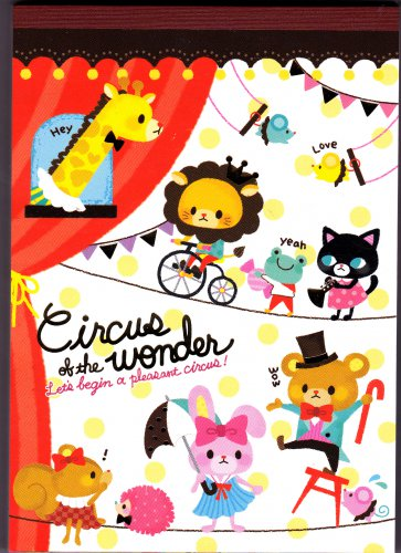 Fortissimo Japan Circus of the Wonder Memo Pad with Stickers Kawaii