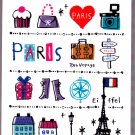 Mind Wave Japan Paris Mini Memo Pad Kawaii