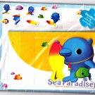 San-X Japan Sea Paradise Letter Set with Stickers Rare 1999 Kawaii