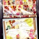 Kamio Japan Bonjour!  Friends Letter Set with Stickers Kawaii