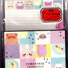 Kamio Japan Coronimal Letter Set with Stickers Kawaii